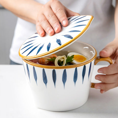 Noodle Soup Bowl With Handle - Elite Kitchenwares