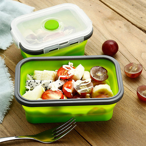 Collapsible Silicone Food Container (Square)