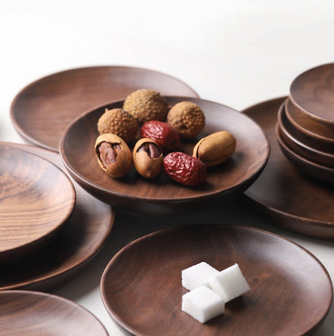 Solid Wood Food Plates - Elite Kitchenwares