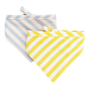Rifle Paper Co Striped Canvas Dog Bandanas