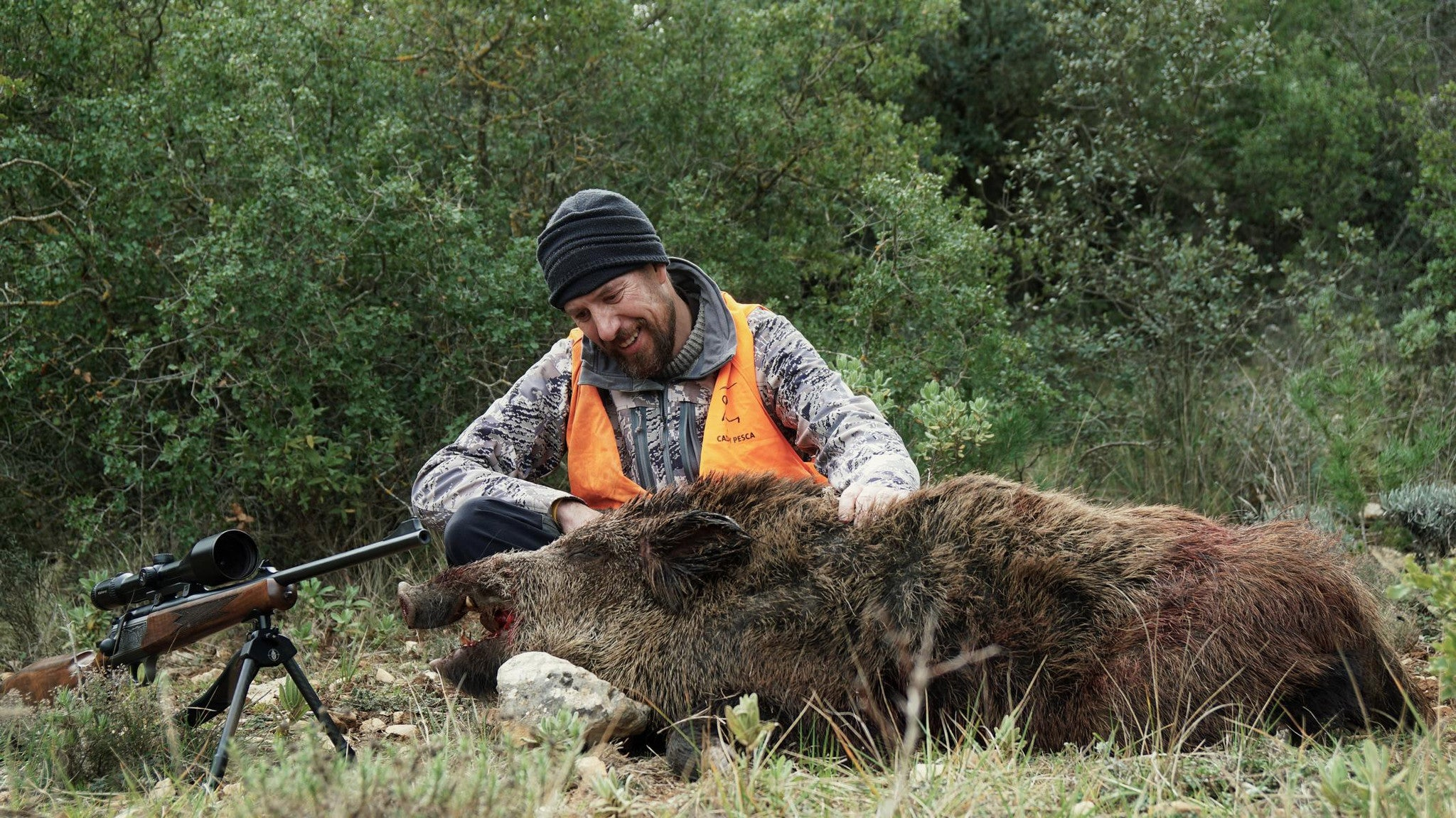 Boar hunting in Spain with the Javelin Mk.2 Super-Lite