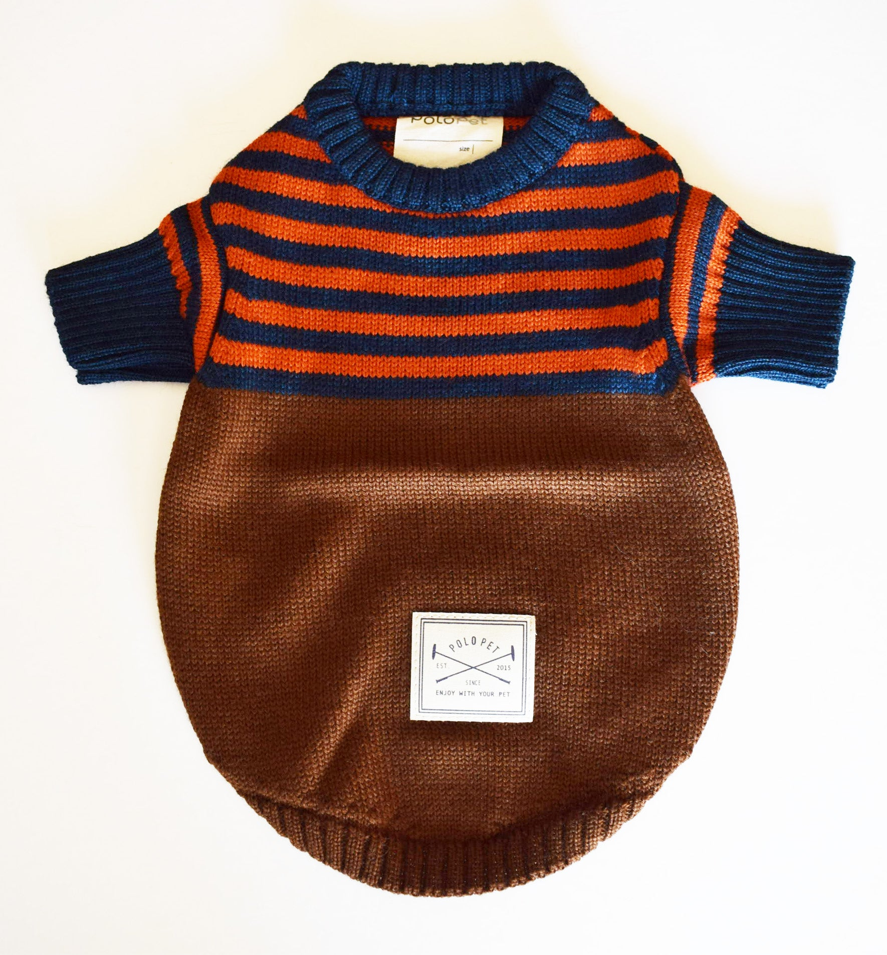 Brown x orange Breton  Sweater