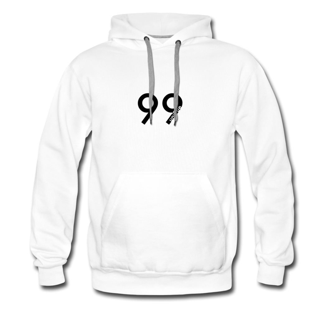 99unique Logo Hoodie Weiss - 99unique.ch