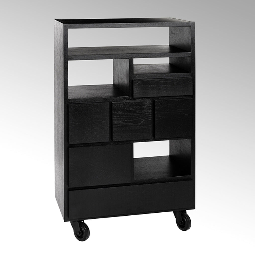 Industrial style cabinet in black