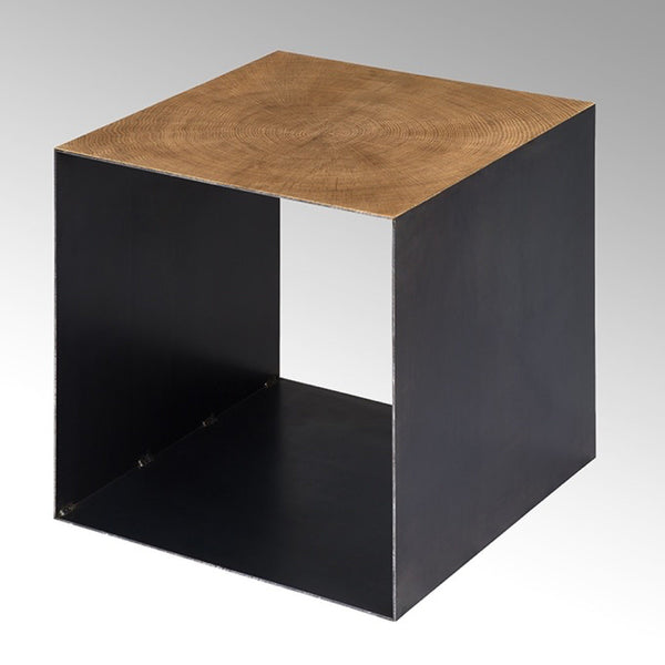 Cube-shaped side table