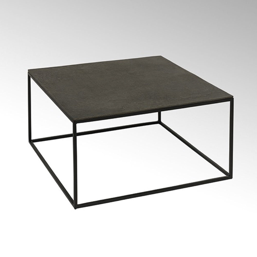 modern square metal coffee table