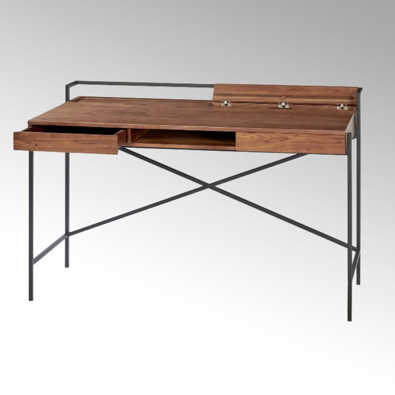 DERRICK DESK IN WALNUT BY LAMBERT