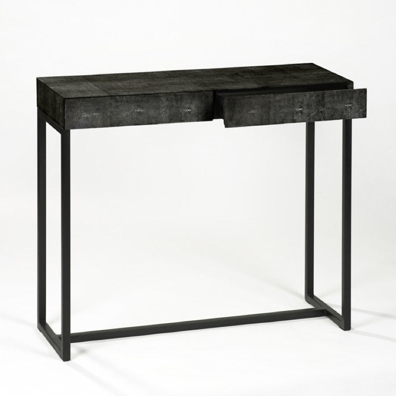 black designer console table