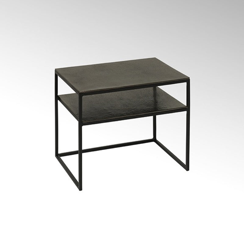 contemporary metal sidetable