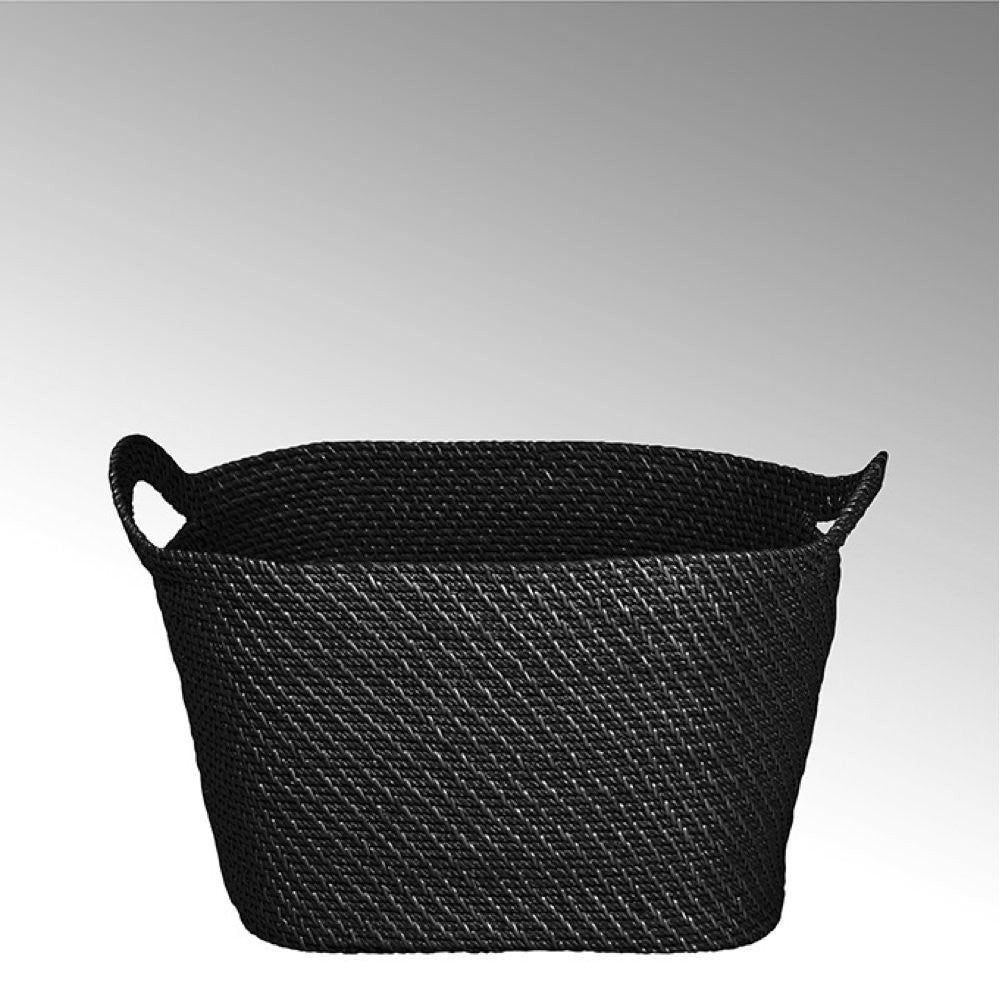 large black basket with handle