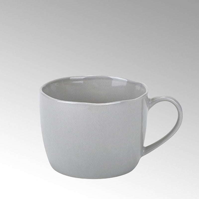 grey porcelain coffee cup