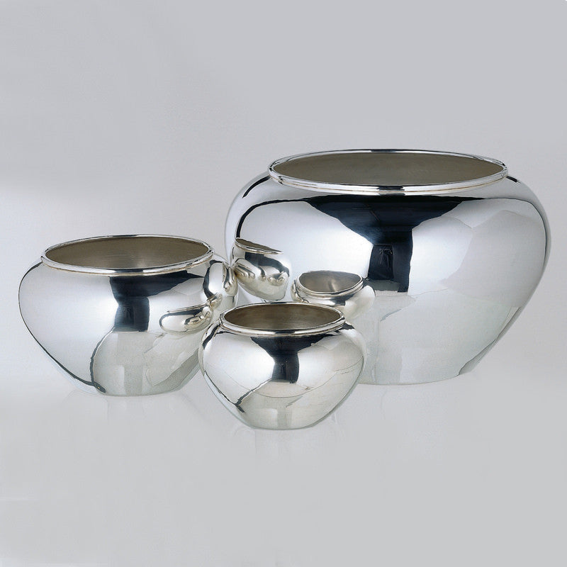 oversized silver bowl