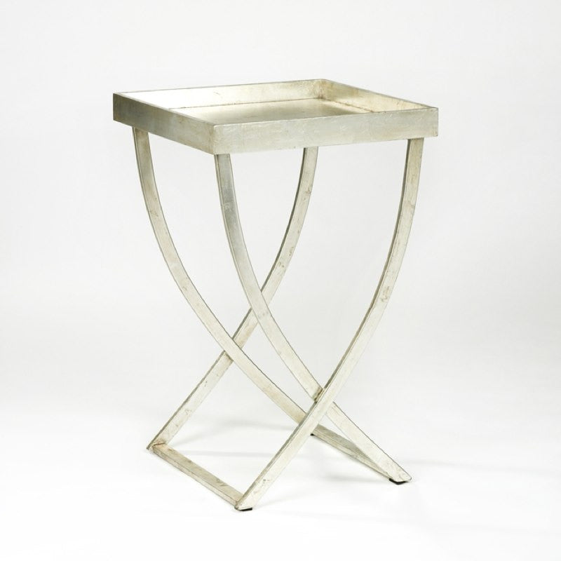 Luxury silver tray table