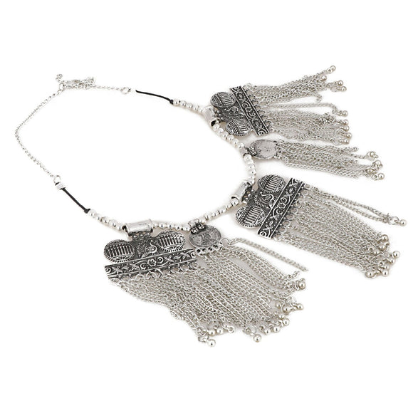 Designer Antique Oxidized Silver Fancy Necklace Fashion Jewellery