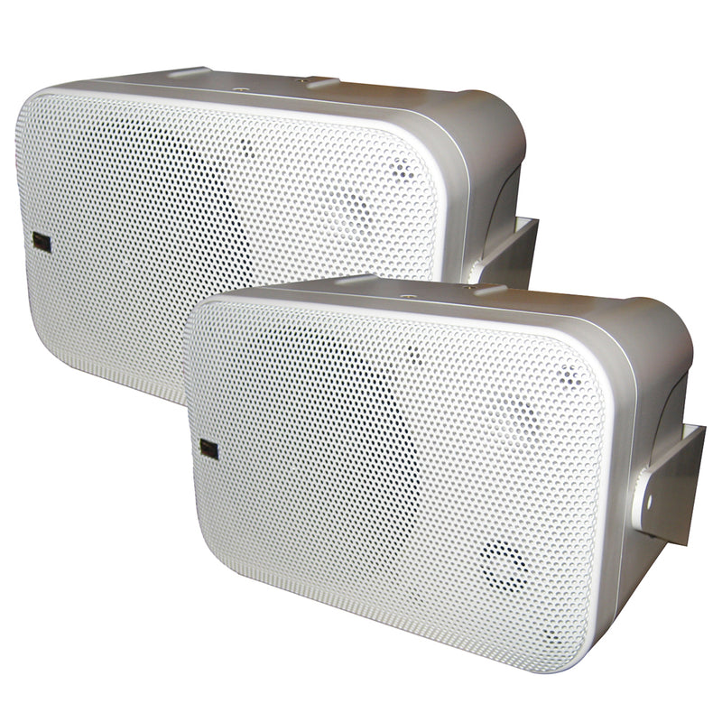 Poly-Planar Box Speakers - (Pair) White