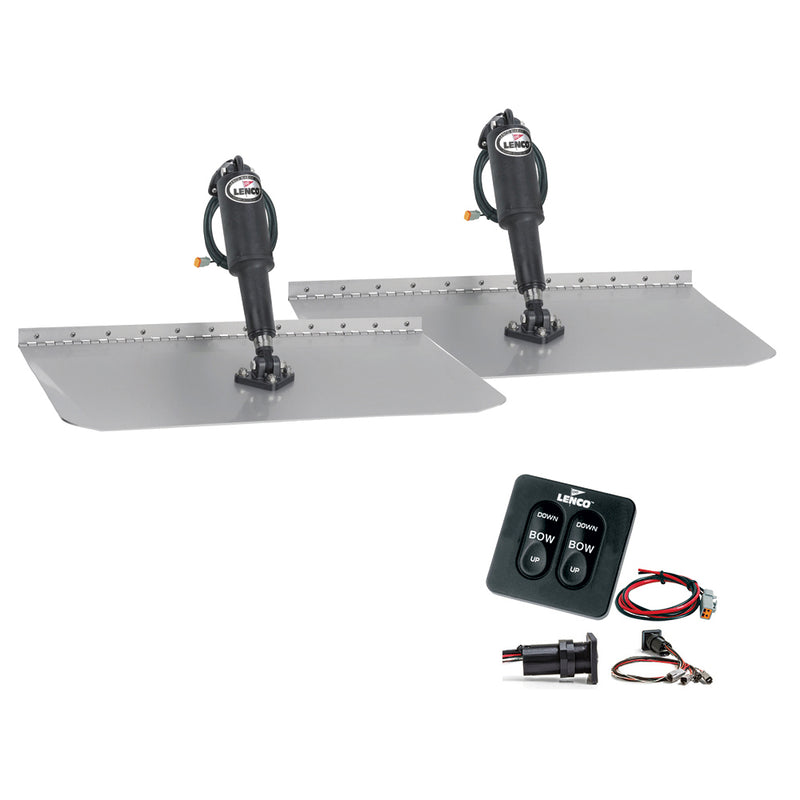"Lenco 12"" x 24"" Standard Trim Tab Kit w/Standard Tactile Switch Kit 12V"