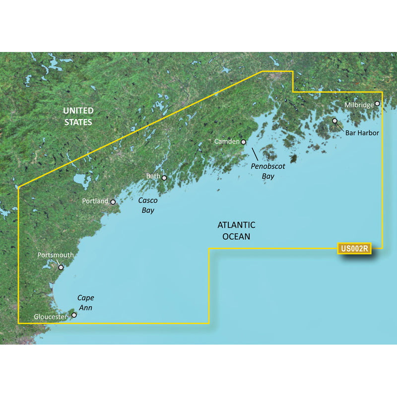 Garmin BlueChart g3 Vision HD - VUS002R - South Maine - microSD/SD