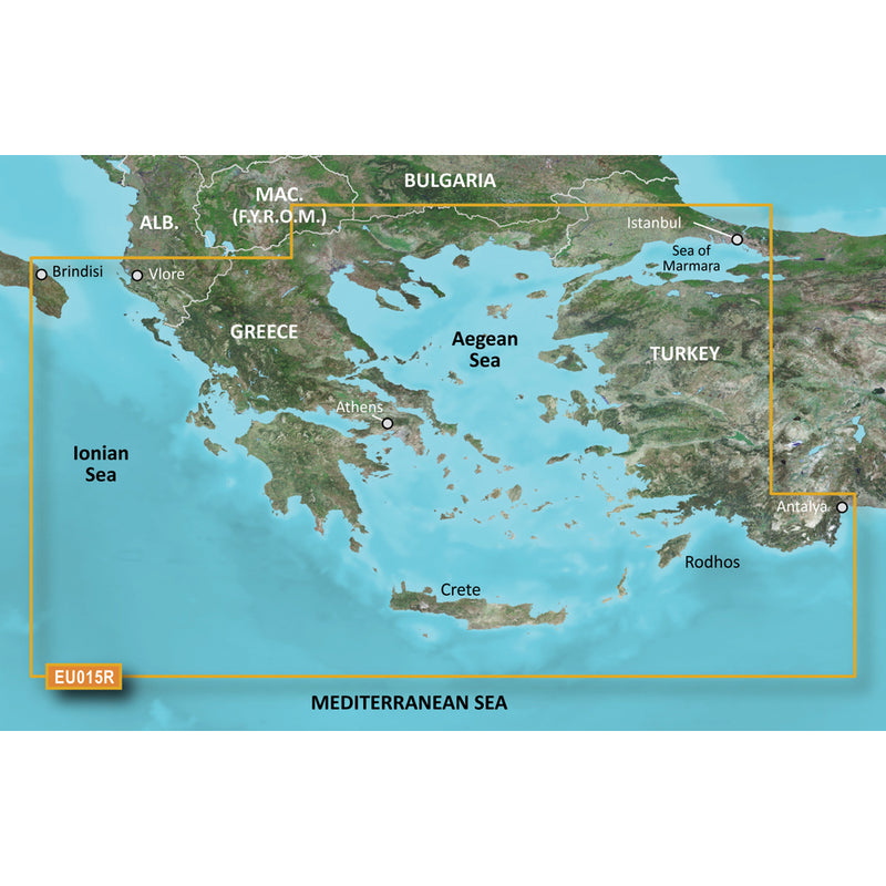 Garmin BlueChart g3 Vision HD - VEU015R - Aegean Sea  Sea of Marmara - microSD/SD