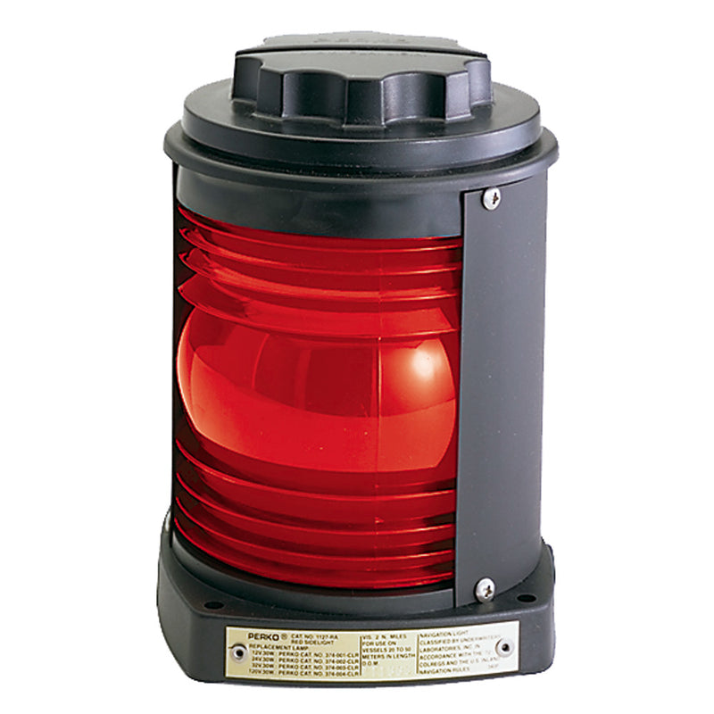 Perko Side Light - Black Plastic, Red Lens
