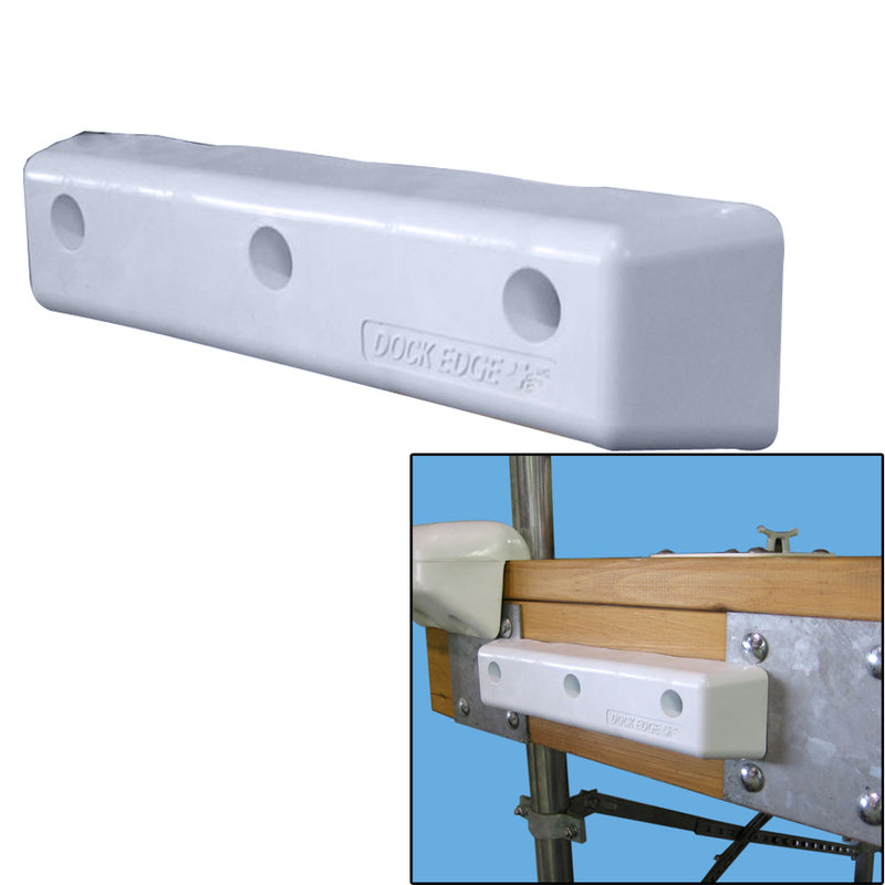 "Dock Edge Protect Straight HD 12"" PVC Dock Bumpers"