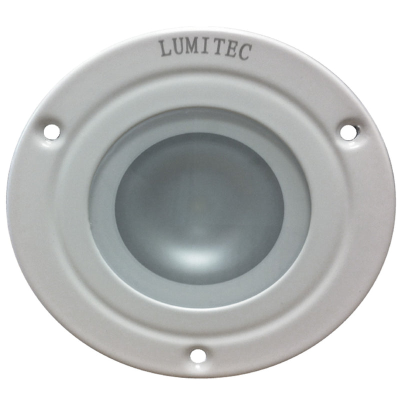 Lumitec Shadow - Flush Mount Down Light - White Finish - 4-Color White/Red/Blue/Purple Non-Dimming