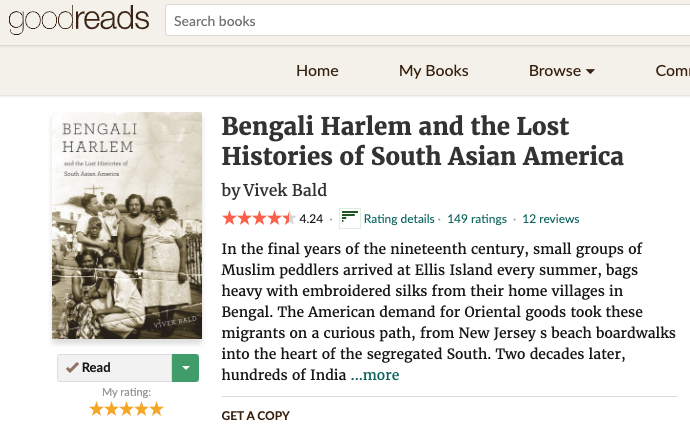 Bengali Harlem and the Lost Histories of South Asian Americans (2013)