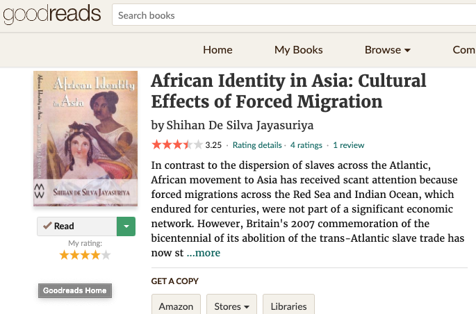 African Identity in Asia: Cultural Effects of Forced Migration (2009)