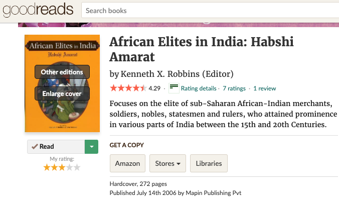 African Elites in India: Habshi Amarat (2006)