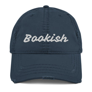 Bookish Distressed Dad Hat