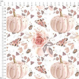 Autumn Blush Digital Custom Print Fabric
