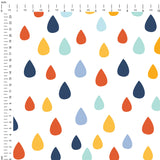 Autumn Rain Drops  Digital Custom Print Fabric