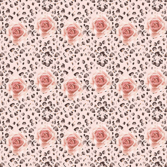Autumn Rose Digital Custom Print Fabric