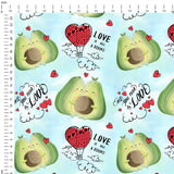 Avocado Love Digital Custom Print Fabric