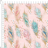 Feathers Digital Custom Print Fabric