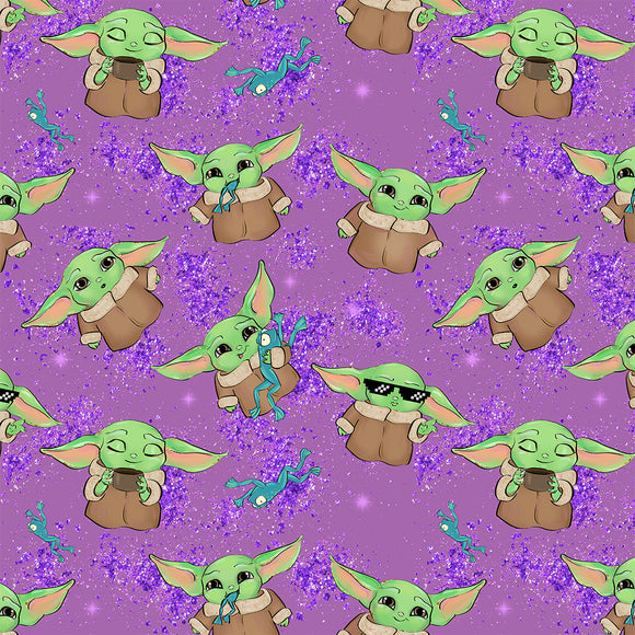 Baby Master Purple Digital Custom Print Fabric