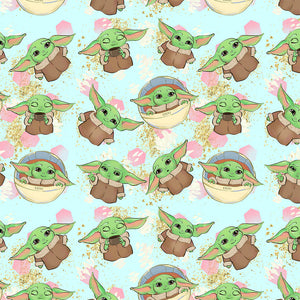 Baby Master Blue Digital Custom Print Fabric