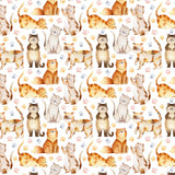 Cats Digital Custom Print Fabric
