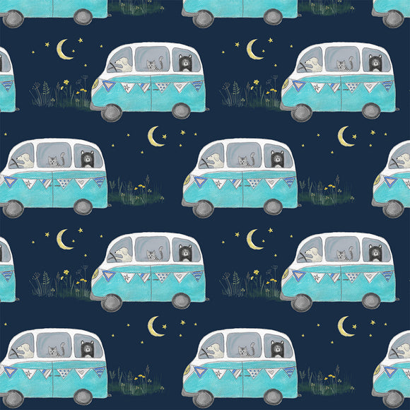 Campervan Adventure Digital Custom Print Fabric