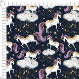 Circus Navy Digital Custom Print Fabric