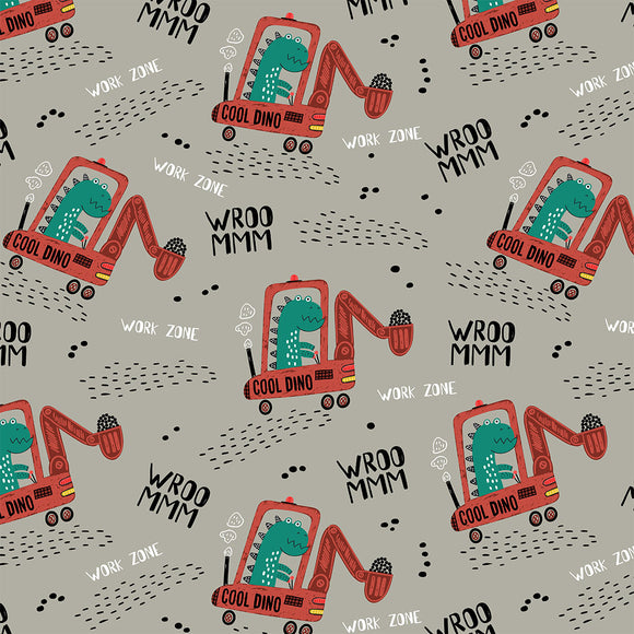Dino Diggers Digital Custom Print Fabric