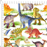 Dino World Digital Custom Print Fabric