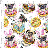 Donut Dogs Digital Custom Print Fabric
