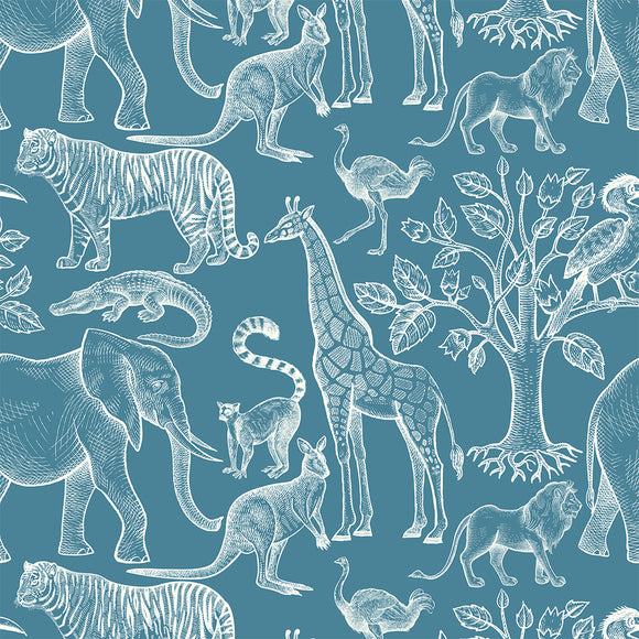 Exotic Animals Digital Custom Print Fabric