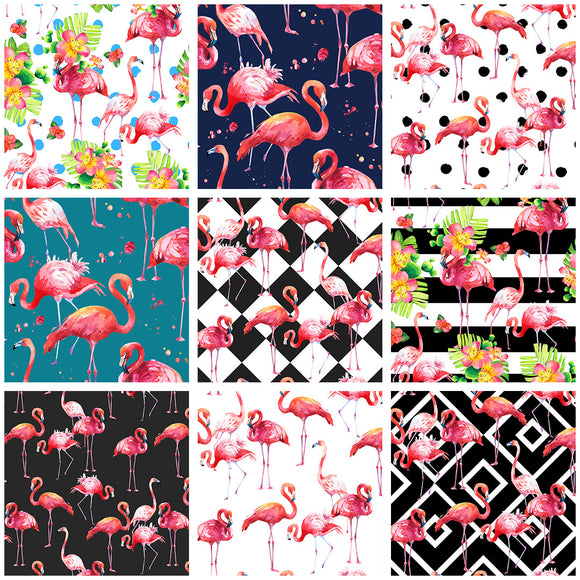 Hello Flamingo Collection Digital Custom Print Fabric