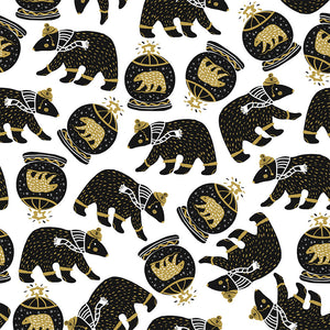 Mono Bears Digital Custom Print Fabric