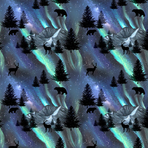 Northern Lights Digital Custom Print Fabric