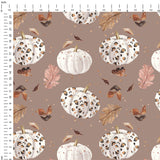 Pumpkin Spice Digital Custom Print Fabric
