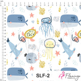Sea Creatures Digital Custom Print Fabric