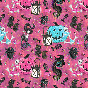 Salty Witches Digital Custom Print Fabric
