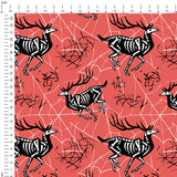 Skeleton Deer Digital Custom Print Fabric
